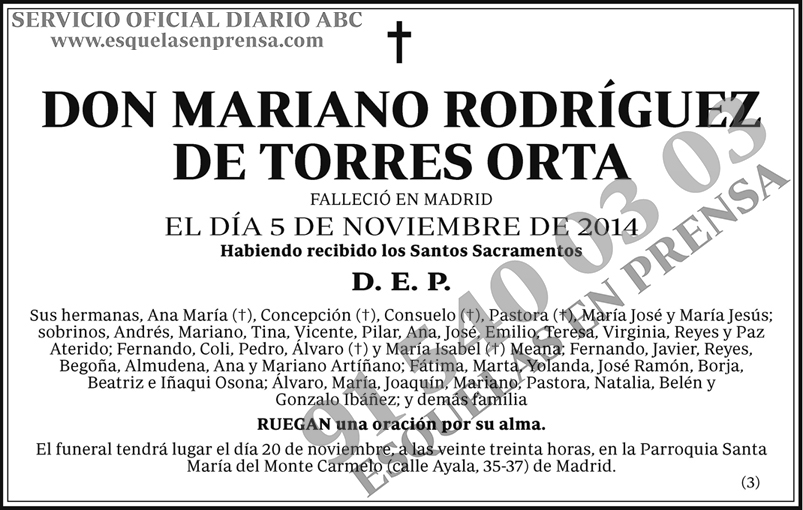 Mariano Rodríguez de Torres Orta
